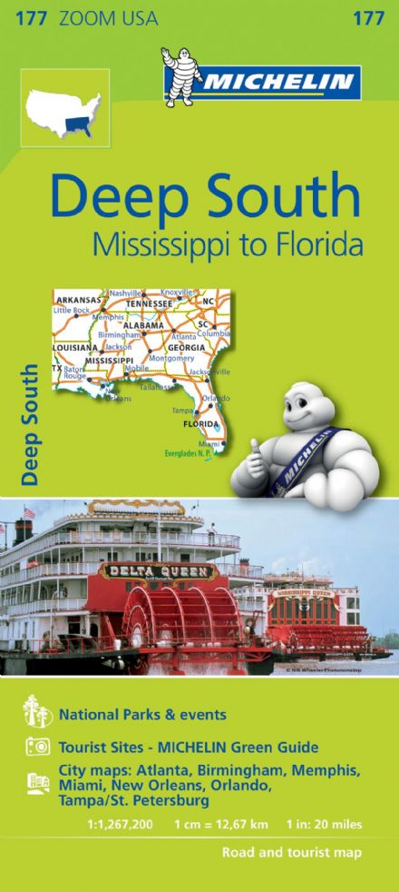 177 Deep South Mississippi to Florida - Michelin Zoom Map